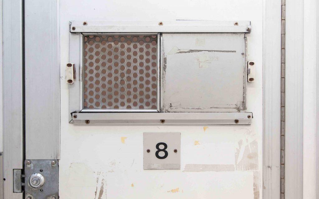 Police cell door