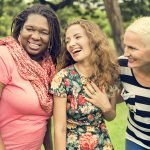 Group of female friends laughing