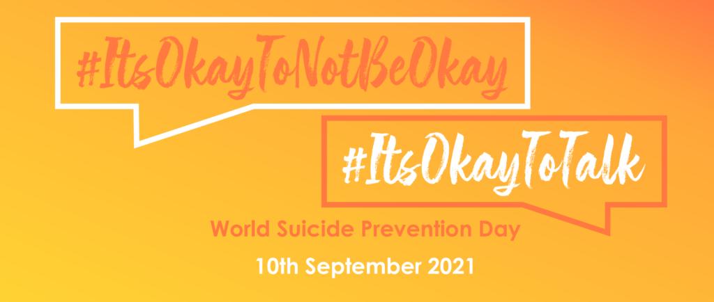 #ItsOkayToTalk banner for World Suicide Prevention Day
